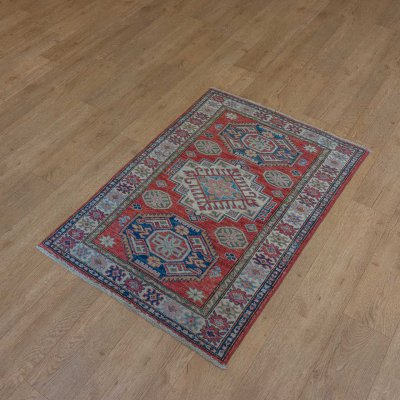 Hand-Knotted Kazak Super Rug From Afghanistan