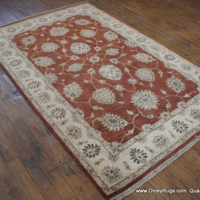 Hand Knotted Indian Ziegler Rug From India