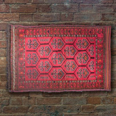 Hand Knotted Balesht Wall Hanging From Afghanistan