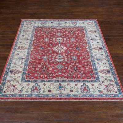 Hand-Knotted Lahore Rug From Afghanistan