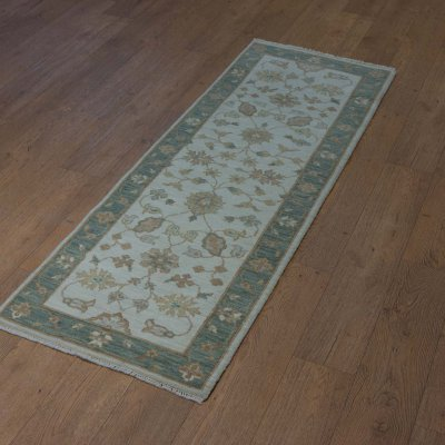 Hand Knotted Indo Ziegler Runner From India