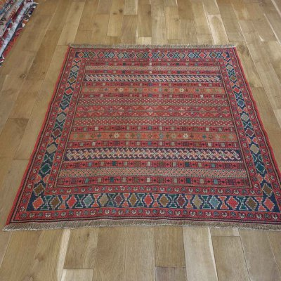 Hand-Woven Soumak Kilim From Turkey