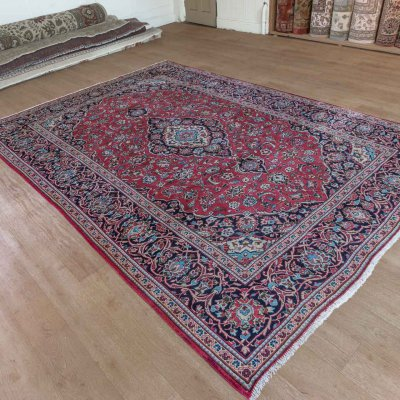 Hand-Knotted Keshan Rug From Iran (Persian)