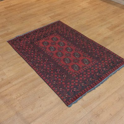 Hand Knotted Aqcha Rug From Afghanistan
