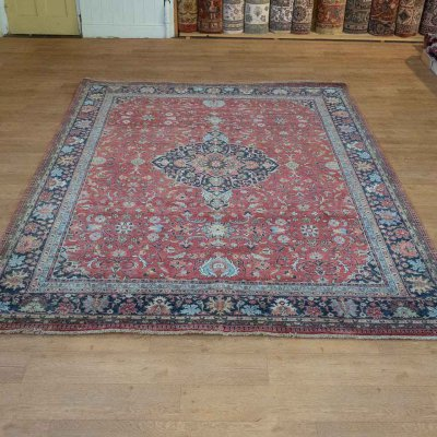 Hand-Knotted Indo Tabriz Rug From India