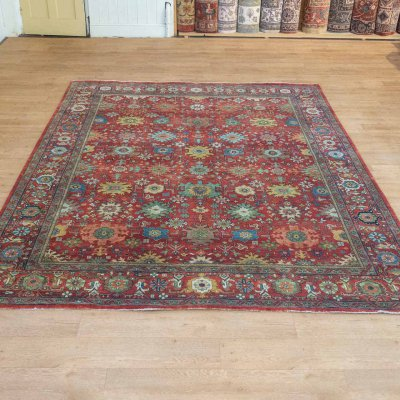 Hand-Knotted Indo Mahal Rug From India