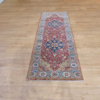 Hand Knotted Indo Serapi Runner From India