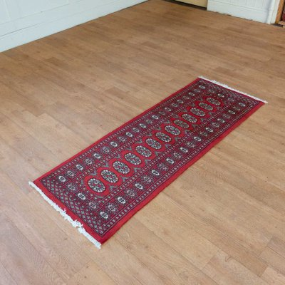Hand Knotted Bokhara Runner From Pakistan