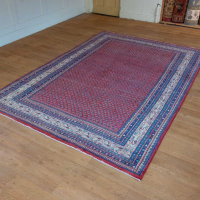 Hand-Knotted Mir Rug From Iran (Persian)