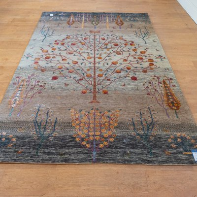 Hand-Knotted Indo Loribaft Rug From India