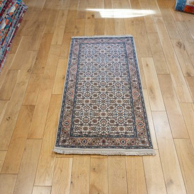 Hand-Knotted Indo Herati Rug From India