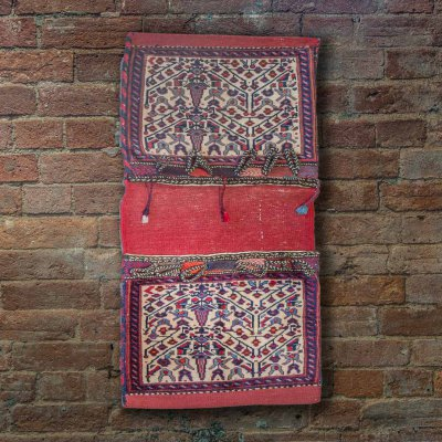 Hand Knotted Sirjand Wall Hanging From Iran (Persian)