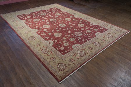 Hand-Knotted Farahan Ziegler Rug From Afghanistan