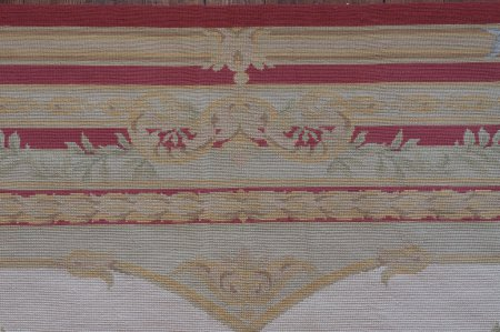 Hand-Knotted Aubusson Rug From China