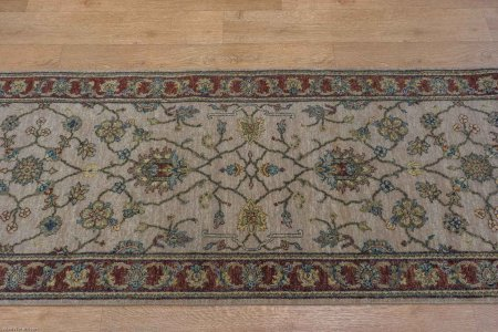 Hand-Knotted Jaipur Rug From India