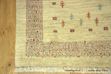 Hand-Knotted Gabbeh Runner From Iran (Persian)