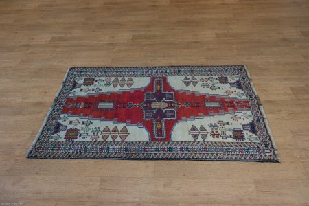 Hand-Knotted Meshed Baluch Rug From Iran (Persian)
