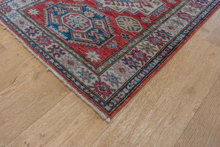 Hand Knotted Kazak Super Rug From Afghanistan