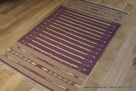 Hand-Knotted Dhurri Kilim From India