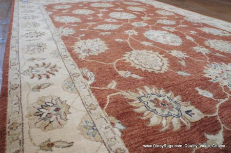 Hand-Knotted Indian Ziegler Rug From India