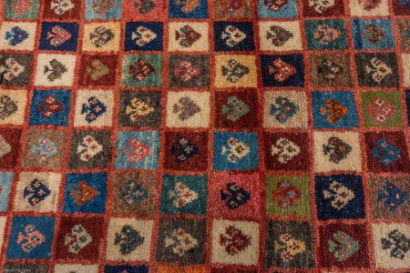 Hand-Knotted Old Gabbeh Runner From Iran (Persian)