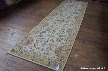 Hand-Knotted Simla Kilim From India