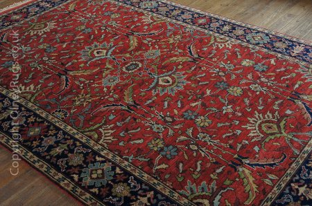Hand-Knotted Agra Mahal Rug From India
