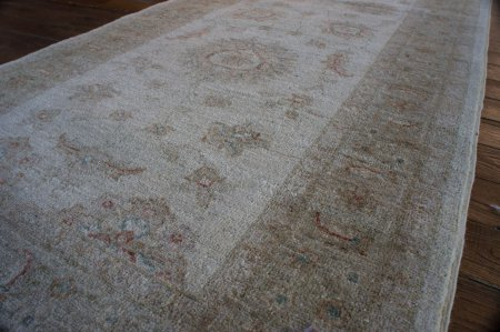Hand Knotted Ziegler Runner From Afghanistan