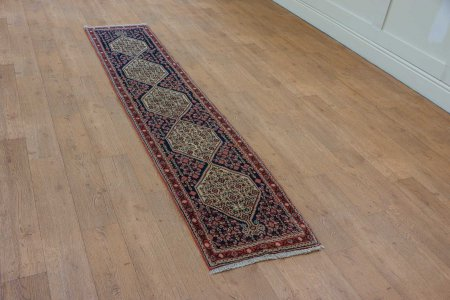 Hand-Knotted Senneh Runner From Iran (Persian)