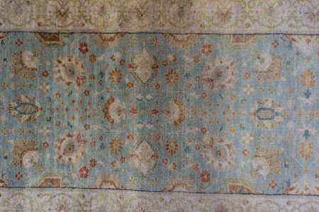 Hand-Knotted Agra Dynasty Runner From India