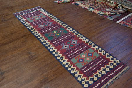 Hand-Woven Mazar Kilim From Afghanistan