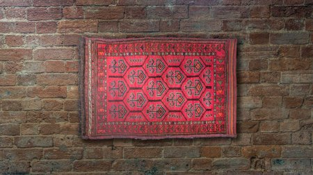 Hand-Knotted Balesht Wall Hanging From Afghanistan