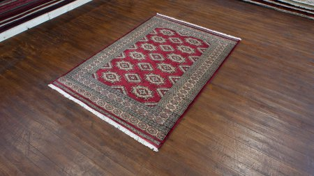 Hand-Knotted Jaldar Rug From Pakistan
