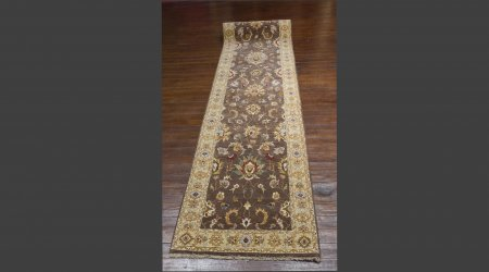 Hand Knotted Agra Ziegler Runner From India
