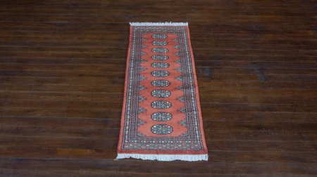 Hand-Knotted Bokhara Runner From Pakistan