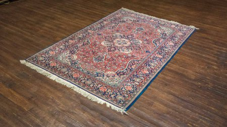 Antique Kashan Rug From Iran (Persian)