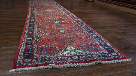 Hand-Knotted Mehreban Runner From Iran (Persian)