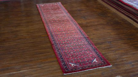 Hand-Knotted Hosseinabad Runner From Iran (Persian)