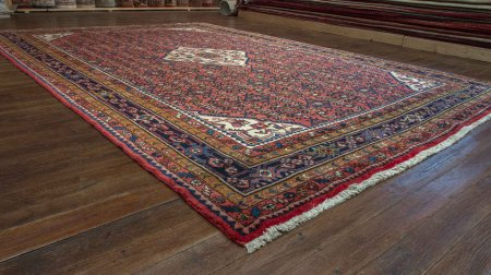 Hand-Knotted Hosseinabad Rug From Iran (Persian)