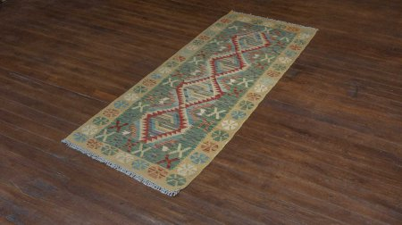 Hand Woven Mazar Kilim From Afghanistan
