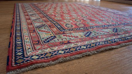 Hand Knotted Sherwan Rug From Pakistan