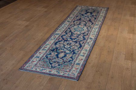 Hand-Knotted Hamadan Runner From Iran (Persian)