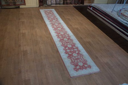 Hand-Knotted Sultanabad Runner From Afghanistan