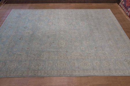 Hand-Knotted Pasha Ziegler Rug From Afghanistan