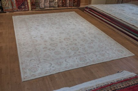Hand-Knotted Ziegler Rug From Afghanistan