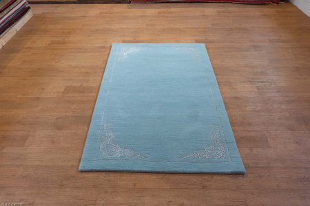 Hand-Knotted Tinchuli Rug From Nepal