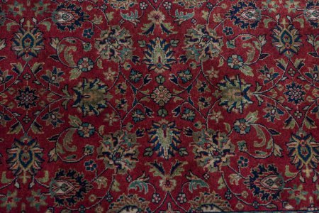 Hand-Knotted Mashad Palace Runner From India