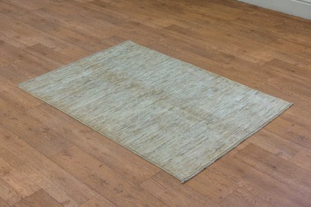 Hand-Knotted Berber Natural Rug From Afghanistan