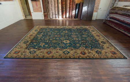 Hand-Knotted Agra Dynasty Rug From India