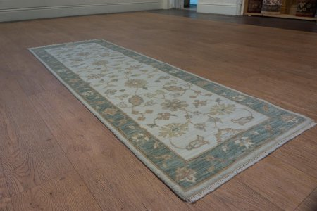 Hand-Knotted Indo Ziegler Runner From India